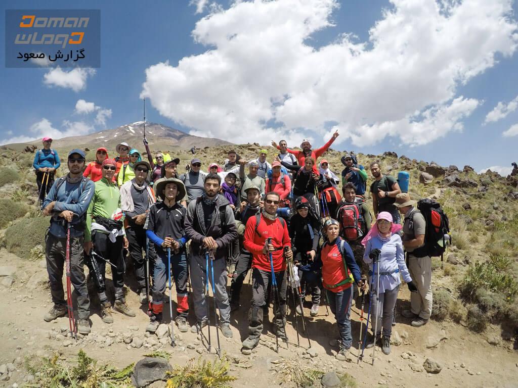 در مسیر جان پناه قله دماوند